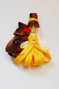 Disney Princess Inspired Hair Clip by WhitneyBoutique on Etsy, $4.00
