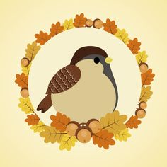 How to Create an Autumn Composition With a Sparrow in Adobe Illustrator