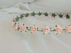 Peach Simple Flower Crown