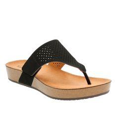898b68f88eca Another great find on  zulily! Black Aeron Logan Leather Sandal  zulilyfinds