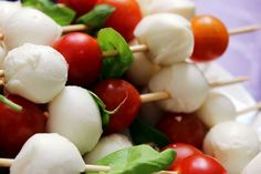 kathastrophal: birthday brunch - mozzarella, tomatoes and basil on sticks PAUL LOOK AT THIS BABE