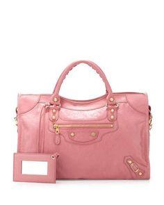 V2QF3 Balenciaga Giant 12 City Bag, Rose