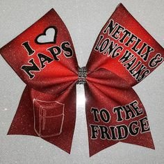 Cheer Bow-NAPS NETFLIX & WALKS by BOWcasions on Etsy