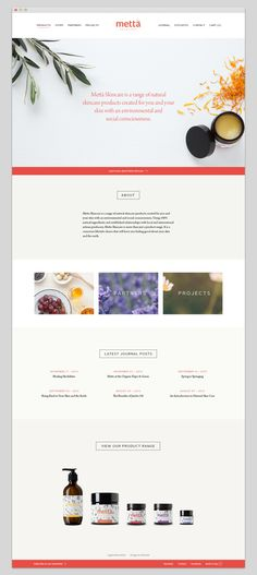 Metta Skincare | Identity & Packaging by Scott Kirkman, via Behance