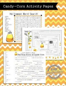 Fun FREE printable pages for kids - perfect for classroom or home celebrations surrounding Halloween