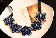 Decent Flower Blue Necklace ....Buy on Jakham....