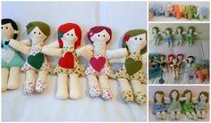 bonecas de pano, naninhas para bebês