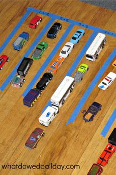 Fun math activity for toy car lovers!