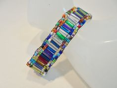 Vintage Multi Colored Glass Seed Bead Bracelet / by KathiJanes