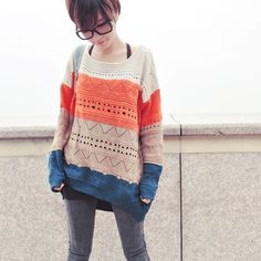 » Color Block Sweater