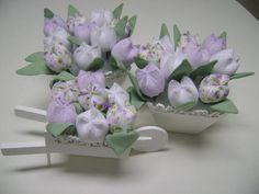 kit trio  vaso tulipa