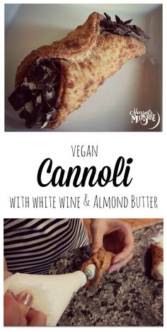 Cannoli with White Wine and Almond Buttter - The almond butter replaces the eggs, making it #dairyfree and #vegan!