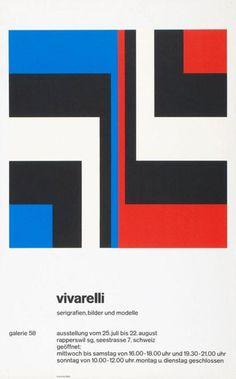 Vivarelli - Serigrafien, Bilder und Modelle - Galerie 58, 1970