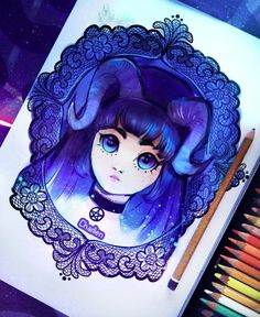 drawing by charlien ♥ Watercolor Art, Drawings, Watercolor Painting, Sketches, Watercolour, Drawing, Portrait, Draw, Grimm