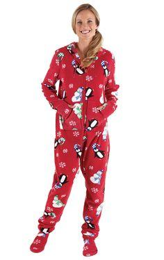 7984392518 Hoodie-Footie™ - Winter Whimsy Snuggle Fleece. PyjamasOnesie ...