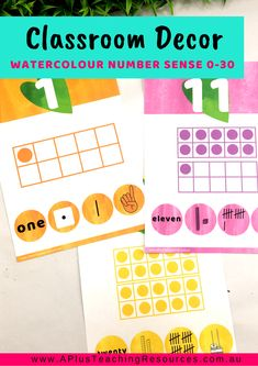 This Watercolour Rainbow Classroom Decor Kit has everything you need to get your classroom looking bright, welcoming and inviting and educational. Teacher Freebies, Classroom Freebies, School Classroom, Classroom Themes, Classroom Activities, Subitizing, Back To School Bulletin Boards, Animal Alphabet, Cool Fonts