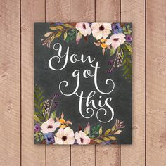 You Got This Printable Art Print by PaperCanoePrintables on Etsy