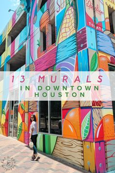 Click to read our blog post for addresses, maps, and tips on visiting these Houston murals.  Things to do in Houston. Instagrammable spots in Houston. Houston Murals, House Essentials, H Town, Texas Travel, 50 States, Senior Pictures, Places To Travel, Travel Guide, Vacations