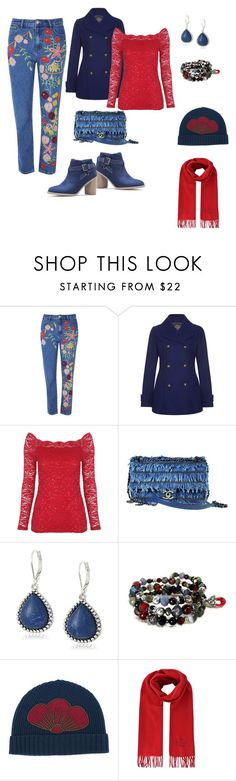 Casual Denim Outfit by siriusfunbysheila1954 on Polyvore featuring Laura Ashley, Glamorous, Chanel, Vintage America, Kenzo and Vivienne Westwood