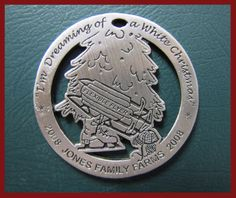 2008: Jones celebrated the 1950s in 2008. This ornament included ice skates and a flexible flyer!