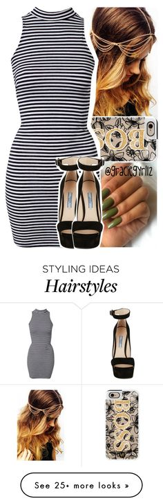"""""""ain't even  on you yet."""" by graciegyrl12 on Polyvore featuring Mode, Casetify, River Island und Prada"""