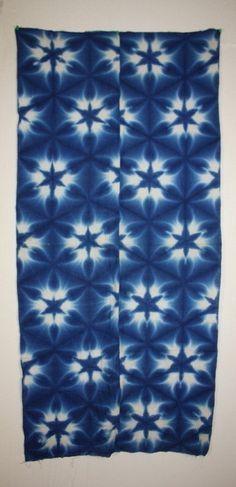 Finnfactor design: Linen Baby Wrap Sekka Shibori Dye: Part 1 snowflake or sekka shibori DIY