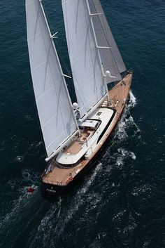 A visitor to Chester, NS Summer 2013 Sailing Yacht Fidelis | PERINI NAVI - Seatech Marine Products & Daily Watermakers