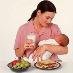 Eating/Drinking While Nursing, even has a sample menu