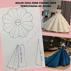 Transformación para vestidos - MyKingList.com Barbie Clothes Patterns, Skirt Patterns Sewing, Sewing Clothes, Clothing Patterns, Diy Clothes, Pattern Drafting Tutorials, Bag Patterns, Blouse Patterns, Fashion Sewing