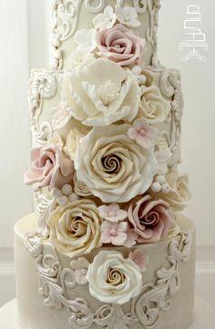 Flowers & Scrolls by Sophia's Cake Boutique