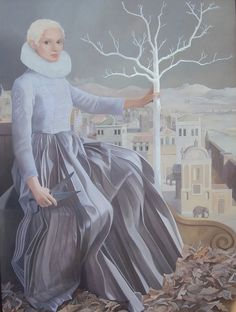 'The Winter Queen' by Lizzie Riches  122 x 91 cms