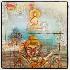 The most divine self expression of the soul is Love & Art ♥ Hippie Life, Hippie Chic, Spiritual Love, Soul Shine, Funky Art, Yoga Art, Namaste, Peace And Love, Buddha