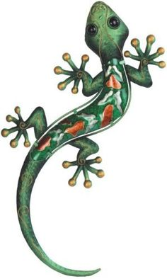 Lizard Gecko Decorative Art Metal with Glass 63076 by StealStreet. $32.99. Decorative Art. Lizard. This gorgeous Green Lizard Orange Spotted Copper Wall Decoration has the finest details and highest quality you will find anywhere! Green Lizard Orange Spotted Copper Wall Decoration is truly remarkable.Green Lizard Orange Spotted Copper Wall Decoration Details:Condition: Brand NewItem SKU: SS-G-63076Dimensions: W:10.5 x H:18.5 (Inches)Crafted with: Copper. Save 46% Off!