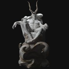 Personal work Demons-Classical sculpture I wanted to practice shaping human anatomy in a gesture other than standing upright. I want to present Satan as a good repentant. Dark Fantasy Art, Dark Art, Character Art, Character Design, Ancient Greek Sculpture, Demon Art, Bd Comics, 3d Prints, Shadow Art