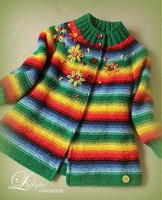 This Pin was discovered by eli Baby Hats Knitting, Knitting For Kids, Crochet Baby, Knit Crochet, Crochet For Kids, Magia Do Crochet, Victorian Coat, Baby Coat, Kid Outfits
