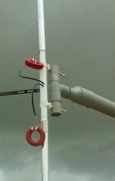 Frank's N4SPP Ham Radio home-built 80 40 20 meters short dipole antenna KGD…