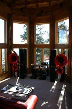 Acapellas Audio Room, Loudspeaker, Audiophile, Turntable, Speakers, Horns, Theater, Room Ideas, Electronics