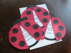 Ladybug Invitations but I like this for a writing assignment.  We do a unit on Beetles.  :)