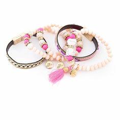 NEW Spring 2015 Bibi Bijoux Pink statement bracelet | eBay