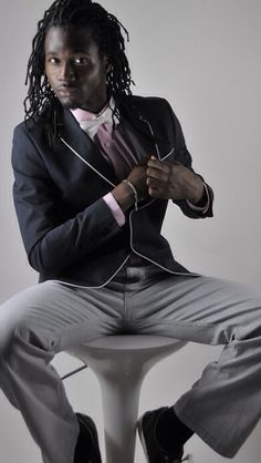 Men's Fashion. Love his locs, his looks, his... Ooowee :)