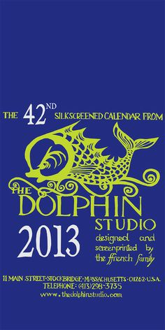 WITHOUT hanger  2013 Dolphin Studio Calendar by TheDolphinStudio, $58.00