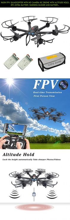 X601H FPV Quadcopter with HD Camera RC Drone with Altitude Hold, RTF, Extra Battery, Warning Buzzer and battery safe pouch for Beginner Black #drone #hold #products #tech #camera #with #shopping #plans #kit #mjx #drones #parts #fpv #gadgets #technology #altitude #racing