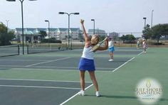Serve up family fun with a friendly tennis game on one of the #GulfShoresPlantation courts.
