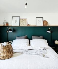 MASTER BEDROOM Related posts: Farmhouse Master Bedroom – Massive Master Bedroom Makeover : The Weekender Series Industrial Style Bedroom Design Ideas 23 + Dreamy Master Bedroom Ideas and Designs That Go Beyond The Basic Master Bedroom Diy, Interior, Home Bedroom, Bedroom Diy, Bedroom Green, Home Decor, House Interior, Bedroom Wall, Interior Design