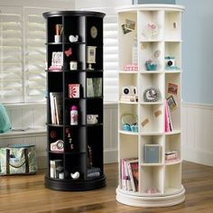 Revolving Bookcase... I SO need one of thiese to hols some of my favorite books!!!!