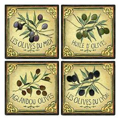 Great Sales on Tile Wallpaper Decoupage Furniture, Decoupage Paper, Vintage Labels, Vintage Ephemera, Olives, Window Mural, Boarders And Frames, Buy Tile, Floral Vintage