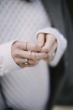 Layered rings.