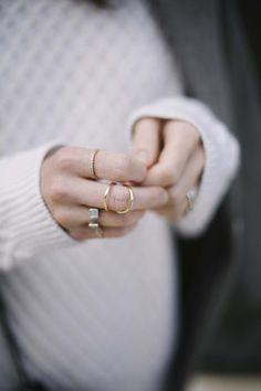 Layered rings.