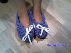 Zapatillas hechas con trapillo