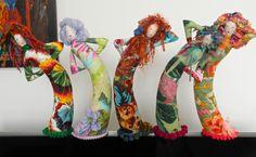 Kaffe Fassett fabric stump dolls...x
